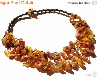 CHRISTMAS SALE Baltic Amber Necklace. Raw Unpolished Beads.