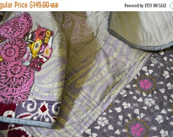HURRY PRESIDENTS DAY Sale Purple Baby Quilt - Crib Quilt - Anna Maria Horner Fabrics