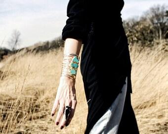 CLEO TURQUOISE STATEMENT Cuff Bracelet