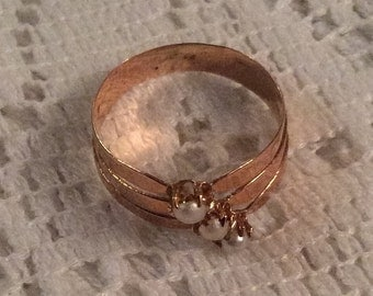 Pearl Gold Ring, Georgian or Early Victorian, Vintage Jewelry, SPRING SALE