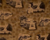Cotton Fabric Generals and Cannons print Gettysburg Collection quilt craft sewing