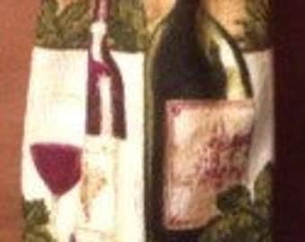 Wine grocery bag holder