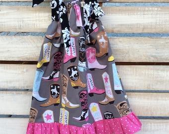 Pillowcase Dress, Cowgirl Western Pillowcase Dress