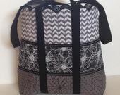 Custom Order for Carla - Handmade Quilted Shoulder Bag (Motorcycles)