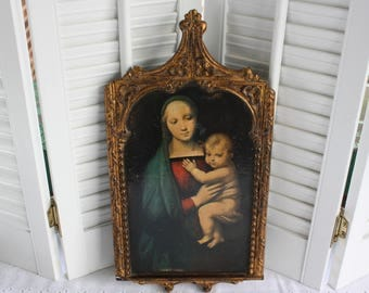 Blessed Mother painting- Free Shipping
