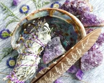 Lavender Amethyst Smudge Kit