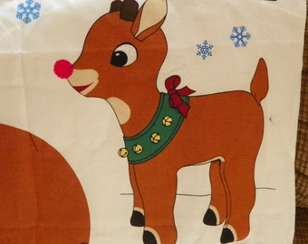 """Rudolph the Red Nosed Reindeer Stands 18"""" Tall Panel"""