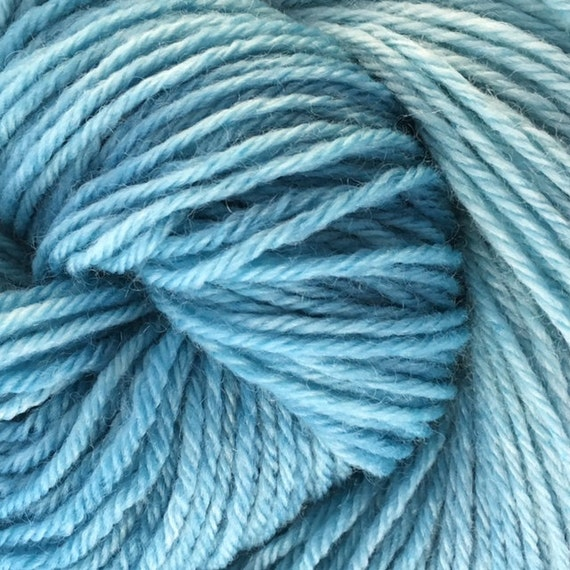 Organic DK - Hand dyed 100% organic merino yarn from South America - non super wash -  Turquoise
