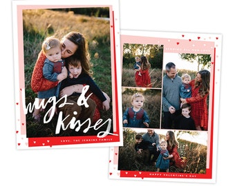 INSTANT DOWNLOAD - Valentine Photocard Template - e1447