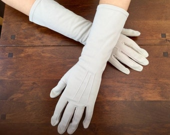 1950s Grey Gloves Ladies Accessories Made in England
