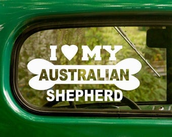 Australian Shepherd Decal Etsy - Custom vinyl stickers australia   the advantages