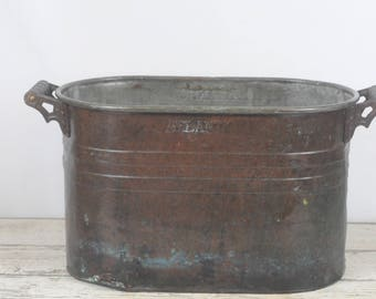 Antique Atlantic Copper Boiler Copper Tub Copper Wash Tub Copper Still