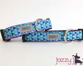 Purple Triangles Dog Collar