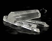 Gypsum Selenite Clear Crystal, 3 Perfectly Terminated Crystals, mined in Mexico in the 1980s, natural wands NOT Polished