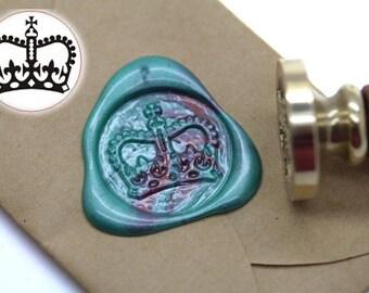 Crown Wax Seal Stamp Kit Wedding Invitation Sealing Wax Stamp Kits Custom Wax Seal Gift Box Package S1354