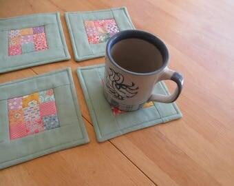 Handmade Coasters 100% Cotton Nine Patch design