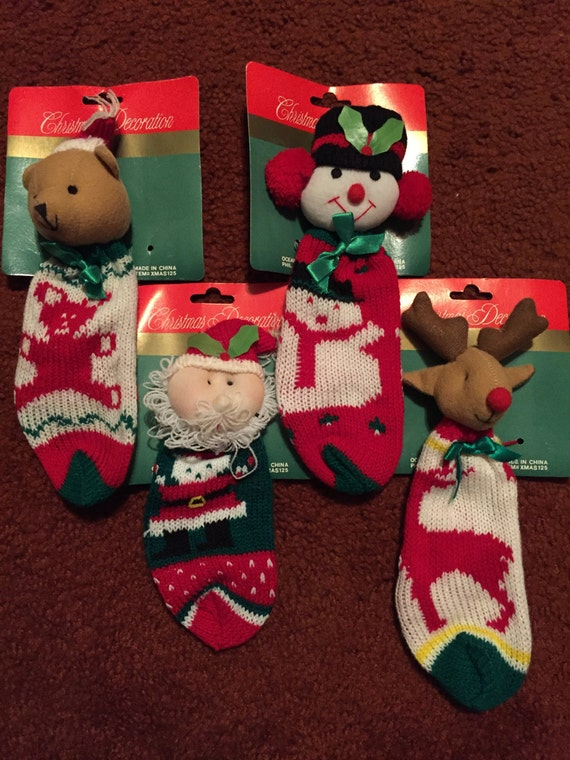 Small Christmas Character Stocking Decorations X5