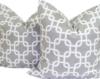 GRAY PILLOWS.SET Of Two. 18x18, 16x16 or 20x20 inch.Pillow Cover.Decorative Pillows.Grey Pillows.Gray Throw Pillows.Grey Cushion Covers.Cm
