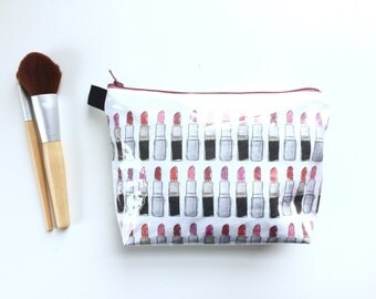 Lipsticks Flat Bottom Pouch Small (handmade philosophy's pattern)