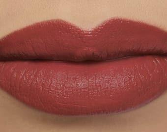 "Matte Lipstick - ""Sonnet"" (terra cotta vegan lipstick with opaque coverage)"