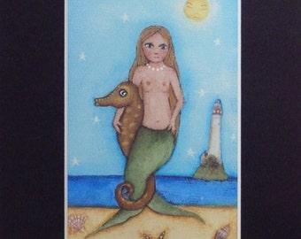 "sweet little mermaid  5x7"" Mat by lisa arkus free shipping"