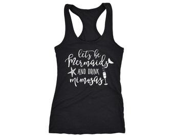 Mermaid Tank Top - Mimosa Tank Top - Womens Mermaid Shirt - Womens Mimosa Shirt - Bachelorette Shirt - Bridal Party Tank - Bridesmaid Gifts