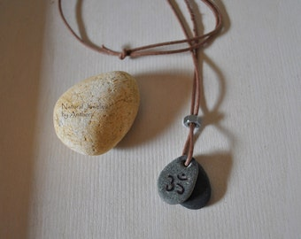 Natural Jewelry,  Unique Necklace, Yoga, River Stone, Organic, Eco friendly