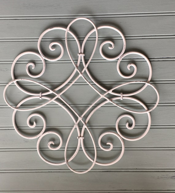 White metal wall hanging metal wall decor decorative wall for Deco metal mural