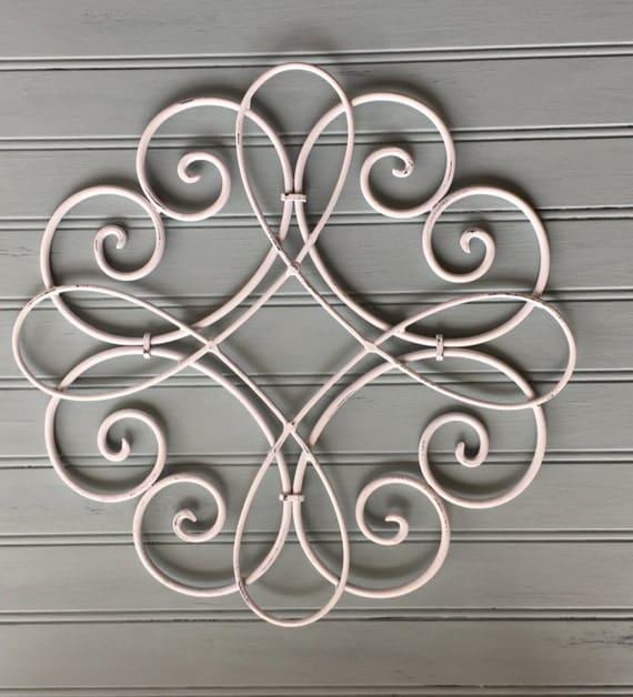 White Iron Wall Decor Alluring White Metal Wall Hanging  Metal Wall Decor  Decorative Wall Design Inspiration