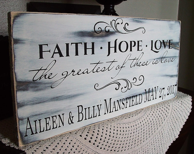Personalized Wedding Gift Corinthians Sign Customize A Wedding Gift Sign Plaque Custom Painted Wood Family Last Name Est Couples