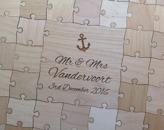 Puzzle guest book Etsy