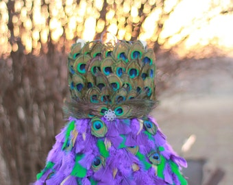Peacock Flower girl, Peacock dress, Peacock costume, feather pageant dress, pageant dress, flower girl dress, costume