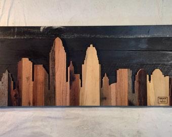 "Hand Crafted Cincinnati 48"" Skyline"