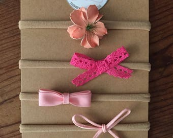Pick Me Pink Bow Set