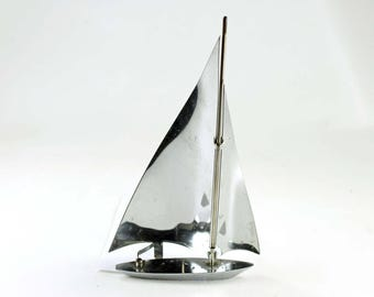 Vintage Metal Sailboat