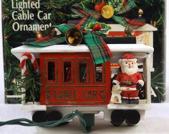 NOMA Lighted Cable Car Ornament