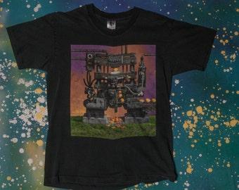 Tesla Metal Rock Bust A Nut Tour T-Shirt Size L