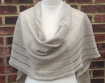 Natural Linen Shawl - Wedding Shawl -pure Linen Wrap - Linen Flax Shawl - Natural Linen Scarf - Oversized Linen Shawl - Bridesmaids Wrap