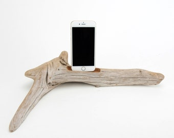 Docking Station for iPhone, iPhone dock, iPhone Charger, iPhone Charging Station, iPhone driftwood dock, wood iPhone dock/ Driftwood-No. 973
