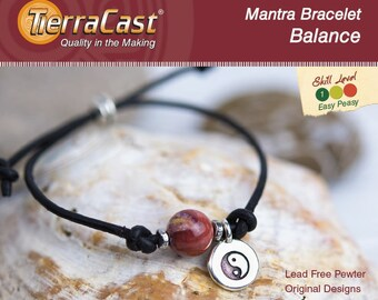 TierraCast DIY Mantra Balance Bracelet Quick Kit