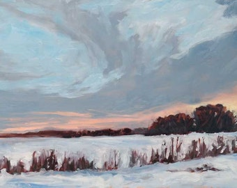 Bosque Sunrise, 01 - Bosque del Apache - New Mexico - Original Oil Landscape Painting