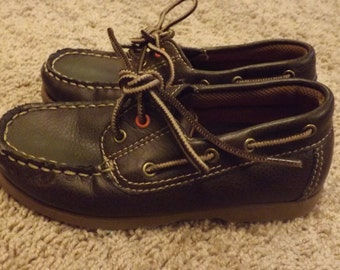Boys Vintage Leather Shoes, Loafers, 80s, Boys Boat Shoes, Boys Shoes, Preppy, Classic Kids Clothes