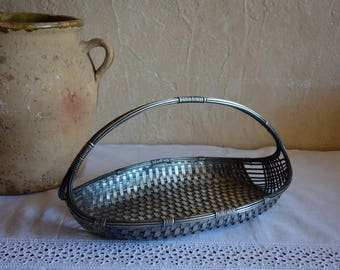 Gorgeous Tin  Serving Tray, Fruit Tray, Handles, Patina, Farmhouse Cottage, Shabby Chic, Vintage French