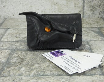 Dragon Business Card Case Holder Dragon Black Leather One Of A Kind Business Gift
