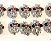 Minnie Mouse Pearl Cage Pick A Pearl or Wish Pearl 10 Cage Lot Hidden Mickey Head
