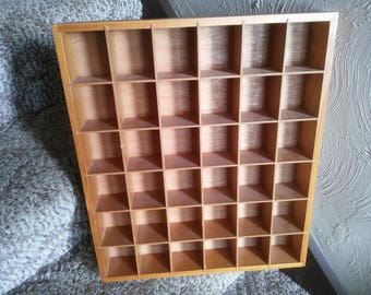 Vintage Shadow Box or Letter Press Drawer Style Shadow Box - Shadow Box - Vintage Wall Display