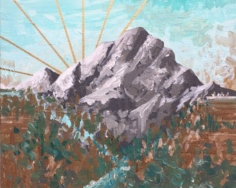 Original Mountain Painting on Canvas // 'Mt. Rainier Hope'