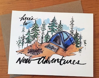 6 Greeting Cards/ PNW Cards / New Adventures Camping Card
