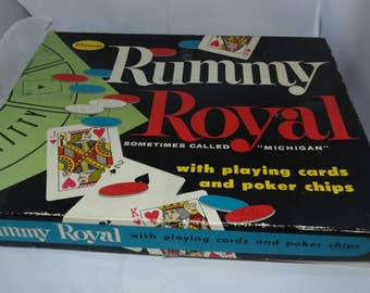 Vintage Rummy Royal Board Game 1959 Whitman family fun game Michigan