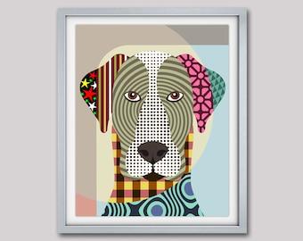 Great Dane Art Print Poster, Great Dane Gifts, Great Dane Dog Pet Portrait, Animal Art, Dog Painting, Dog Wall Art